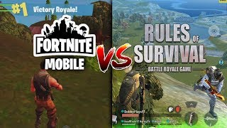 Fortnite Mobile vs Rules of Survival - Mobile Battle Royale Comparison (iOS)