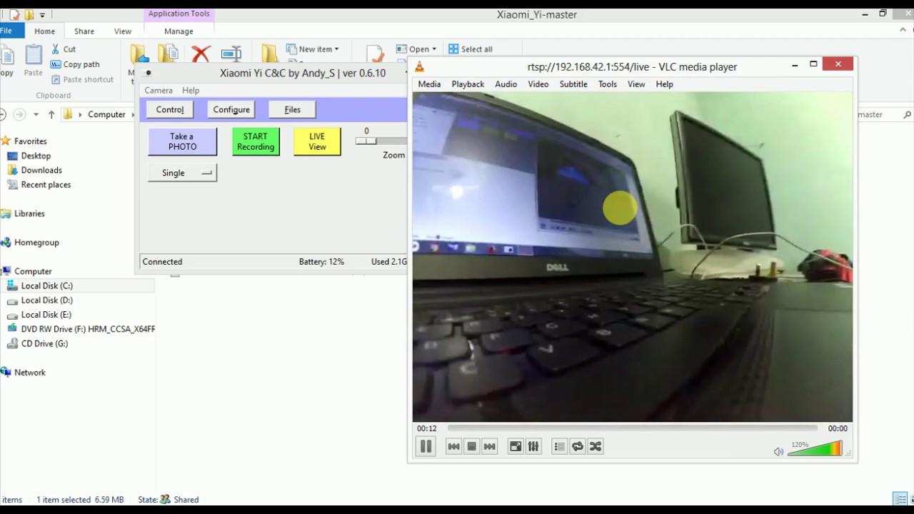 Xiaomi yi Camera Live Stream Using VLC Player (not for yi 4k camera)