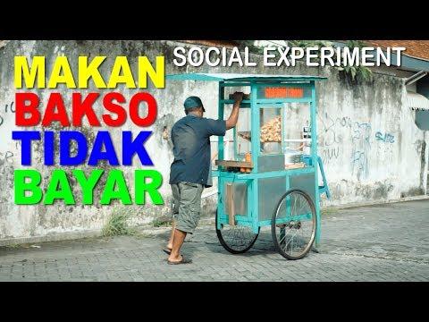 MAKAN BAKSO TIDAK BAYAR ,  NGETES KEBAIKAN ORANG INDONESIA - SOCIAL EXPERIMENT