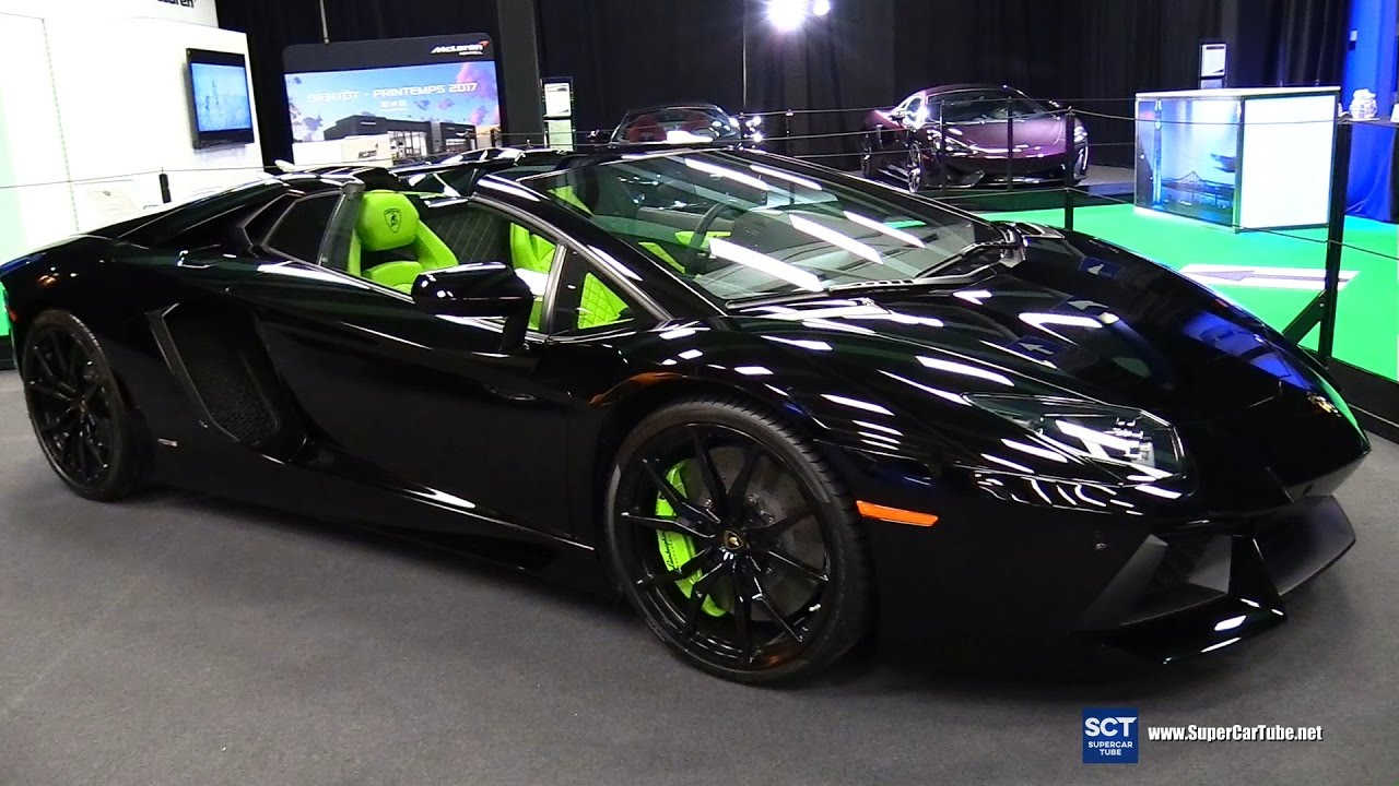 2017 Lamborghini Aventador Lp700 4 Roadster Exterior Walkaround Montreal Auto Show You