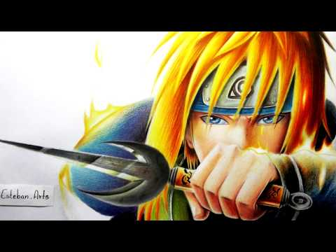 Como dibujar a Minato Namikaze / how to draw Yondaime Hokage / Naruto  Shippuden / Esteban Art's