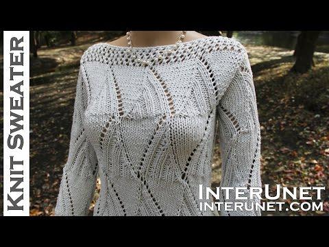 Knit a sweater women's long sleeve sweater knitting