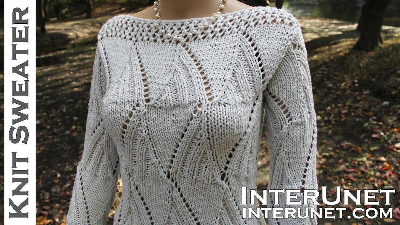 Knit a sweater - women\'s long-sleeve sweater knitting pattern - YouTube
