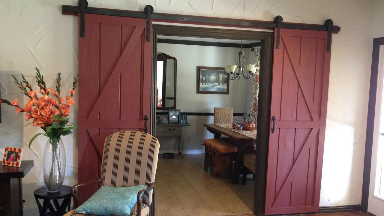 DIY Sliding Barn Door - YouTube