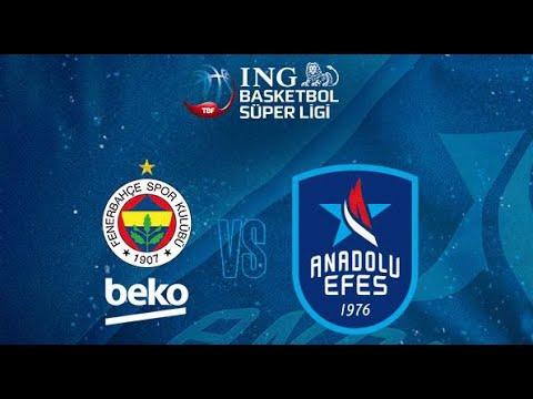 BSL 29. Hafta Geniş Özet   Fenerbahçe - Anadolu Efes