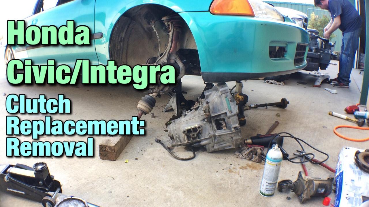 honda civic integra clutch replacement removal [ 1280 x 720 Pixel ]
