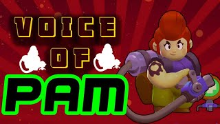 ALL VOICES OF PAM ON BRAWL STARS | ALL VOICE NARRATION OF PAM