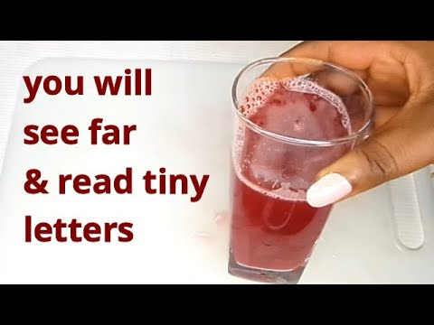 DRINK TO REMOVE CLOUDY OR BLURRY VISION TREATMENT FOR TEMPORARILY BLINDNESS