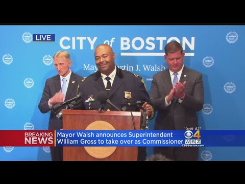 Mayor Walsh Announces Supt. William Gross To Take Over As Commissioner