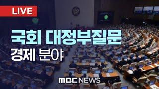 국회 경제 분야 대정부질문 - [LIVE] MBC 중계…