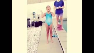 Alexa Curtis doing the ice bucket challenge