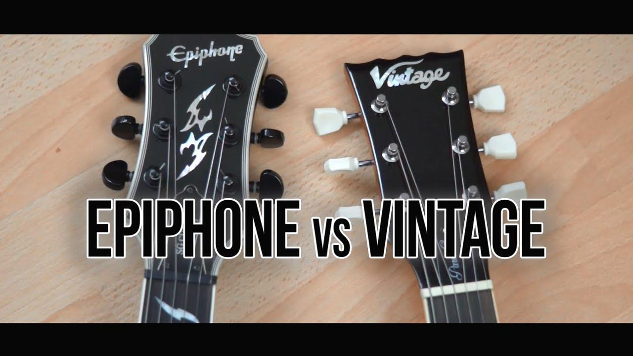 Epiphone Vs Vintage Metal Comparison Youtube