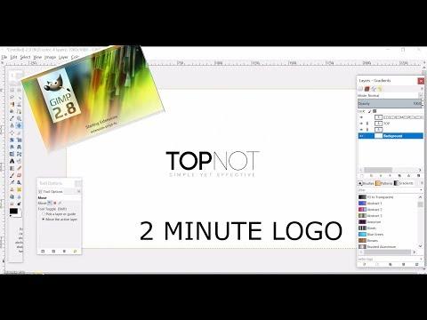 GIMP TUTORIAL   2 MINUTE LOGO   GRAPHIC DESIGNING thumbnail