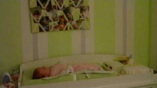 Siena on the changing table