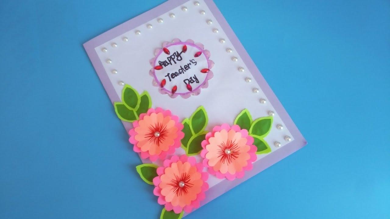 教师节立体贺卡做法_教师节立体花朵贺卡折纸,简单漂亮有心意,学会送老师一个 ...