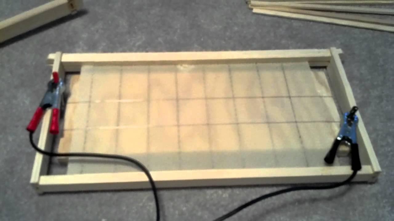 wire embedded into wax foundation youtube rh youtube com