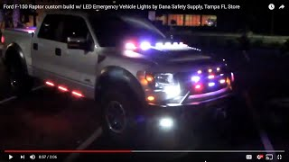 Gambar cover Ford F-150 Raptor custom build w/ LED Emergency Vehicle Lights by Dana Safety Supply, Tampa FL Store