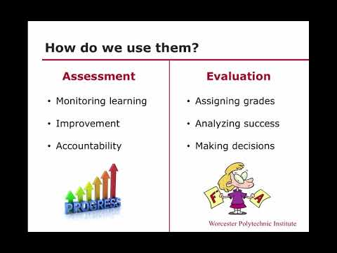 Assessment Vs Evaluation Youtube Evaluation is described as an act of passing judgment on the basis of a set of standards. assessment vs evaluation
