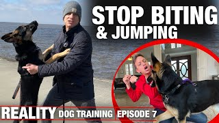 I HAVE to get this dog to STOP BITING & JUMPING! REALITY Dog Training.
