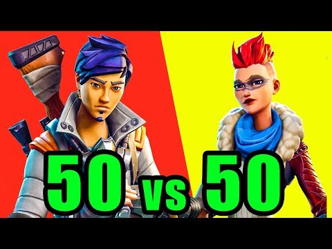 50v50 Mode! ⚡️ Fortnite BR New Update 50 vs 50 Gameplay thumbnail