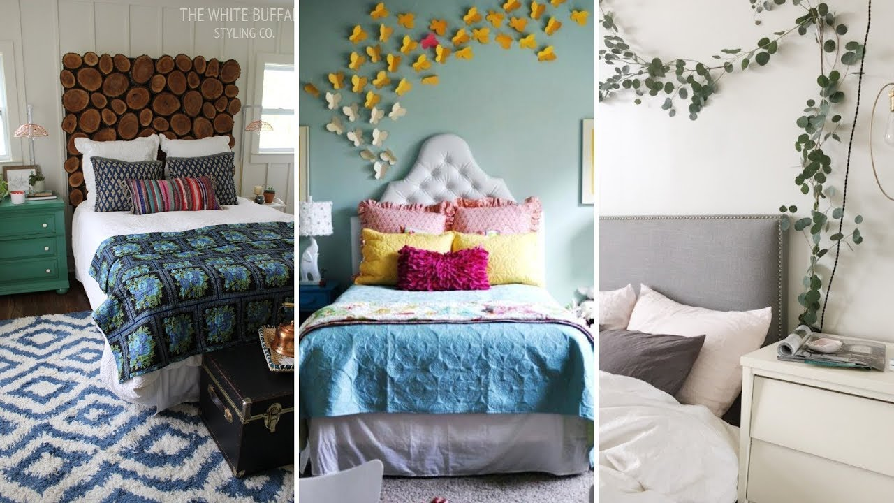 10 DIY Small Bedroom Decorating Ideas - YouTube