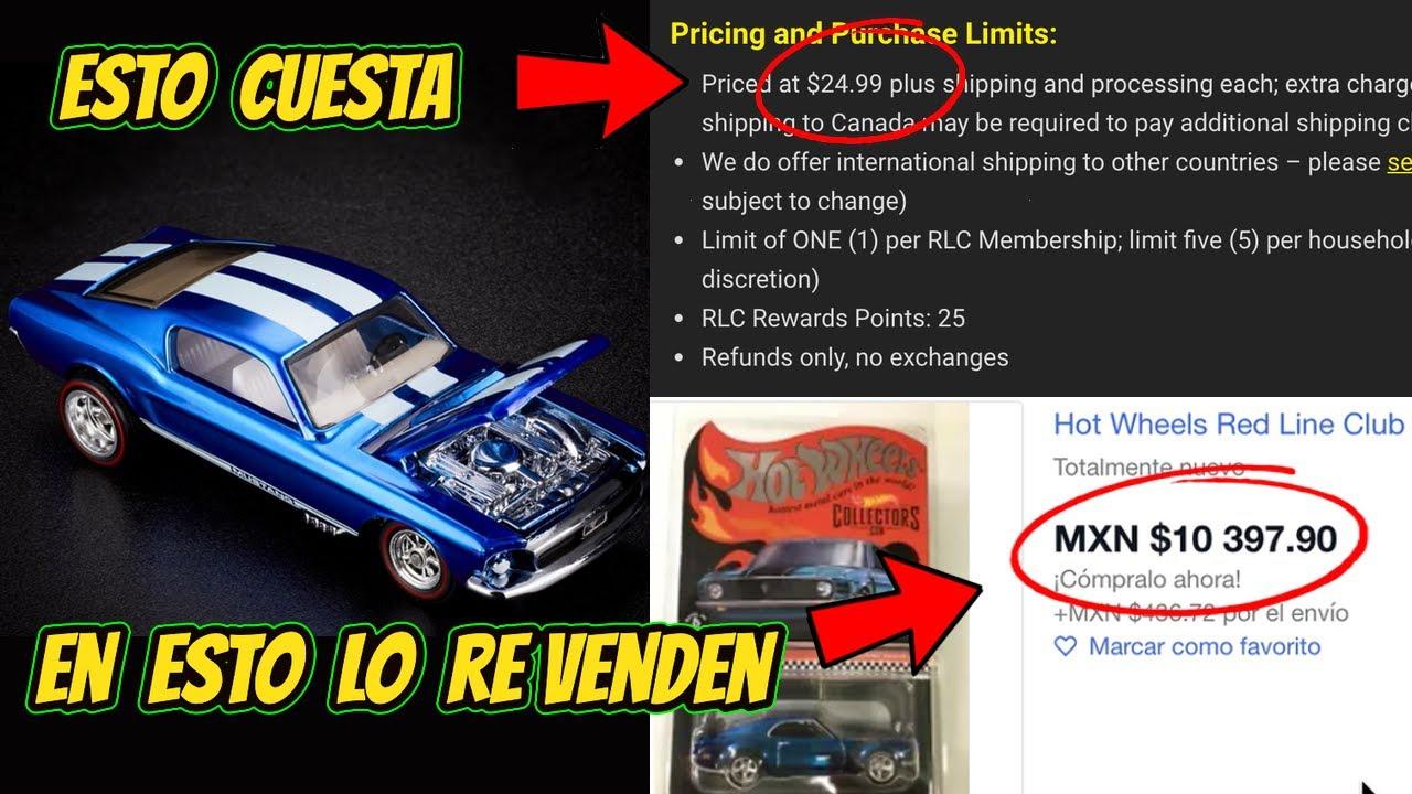 CACERÍA DE HOT WHEELS ELITE EN LÍNEA COMPRE EL RLC Exclusive Custom Mustang