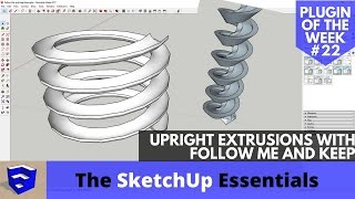 Video Vertical Upright Extrusions in SketchUp with Follow Me and Keep - SketchUp Extension of the Week #22 download MP3, 3GP, MP4, WEBM, AVI, FLV Desember 2017