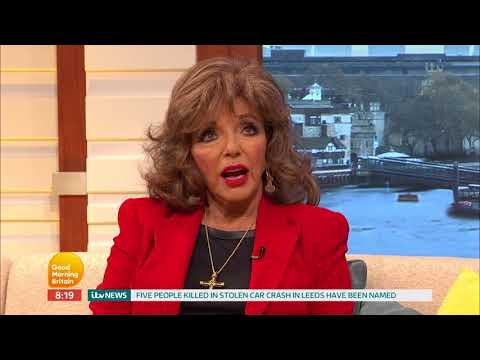 Dame Joan Collins Reacts to Comments Made by Her Son  Good Morning Britain