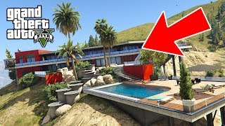 BILLIONAIRE MANSION HOUSE TOUR!! (GTA 5 Mods)