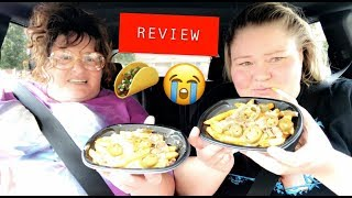 Trying Taco Bells new Rattlesnake Fries w/ my cousin Crystal.