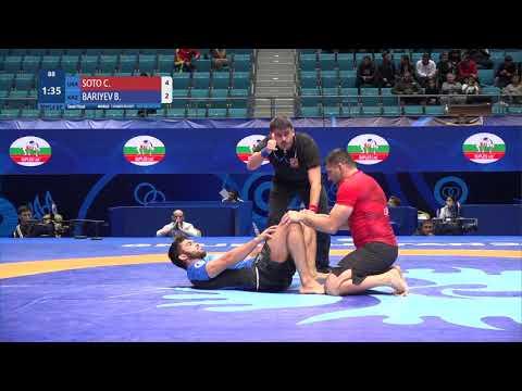 1/2 Men's GP No-Gi - 92 kg: C. SOTO (USA) v. B. BARIYEV (KAZ)