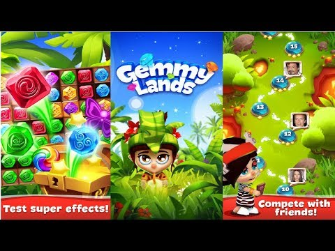 Gemmy Lands - Match-3 Games Android Gameplay