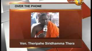 Newsfirst_Fast by Theripeha Siridhamma Thero escalates into a fast unto death