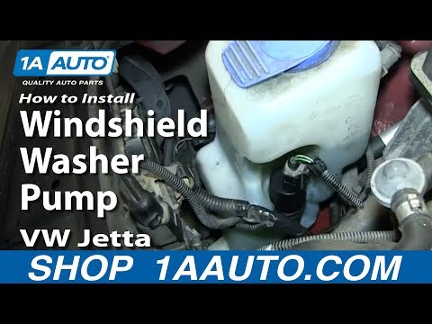 How to Replace Windshield Washer Pump 99-05 Volkswagen Jetta or Golf
