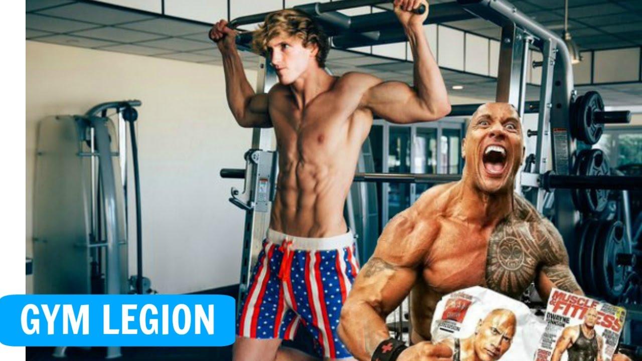 Dwayne Johnson & Logan Paul - Best Gym Moments (Workout