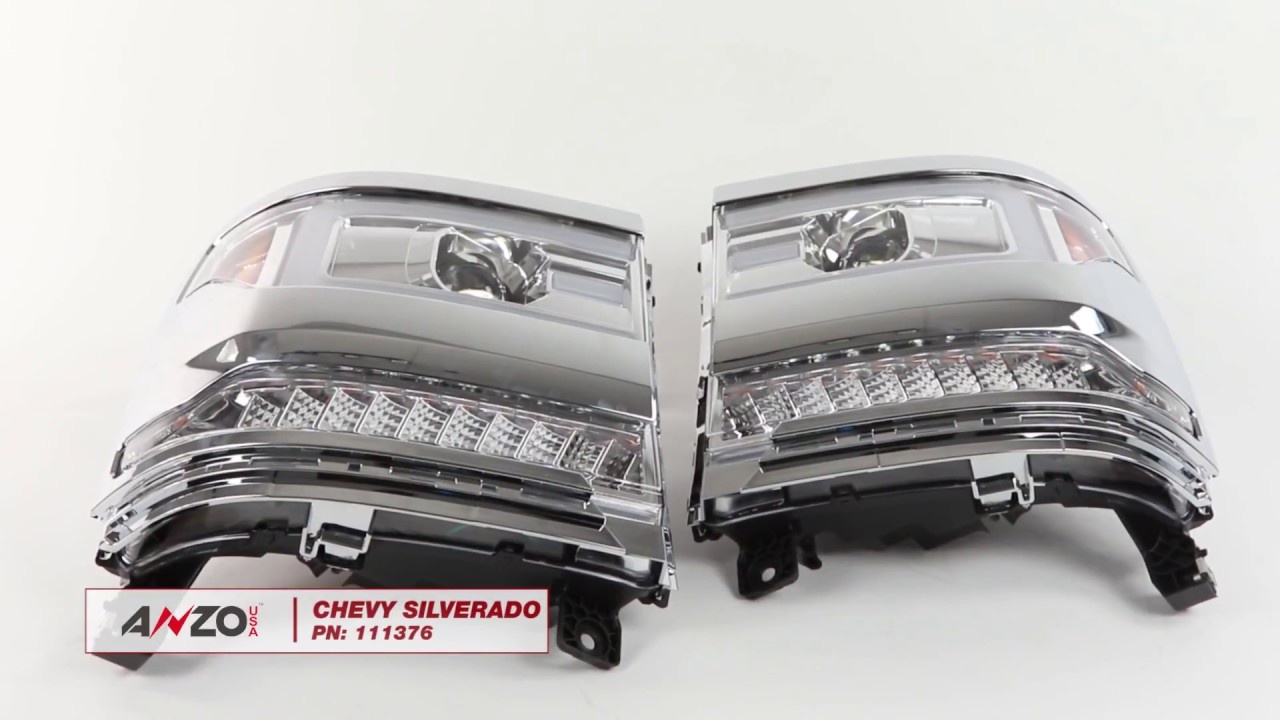 2016 2017 Chev Silverado 1500 Headlights