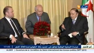 الرئيس بوتفليقة يستقبل رئيس الوزراء المالطي  جوزيف موسكات   بالجزائر 2