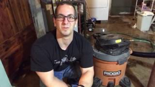How To Vacuum Water with a RIDGID Wet Dry Shop Vac
