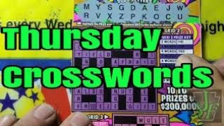 Thursday Crosswords.  Lottery Scratch Tickets