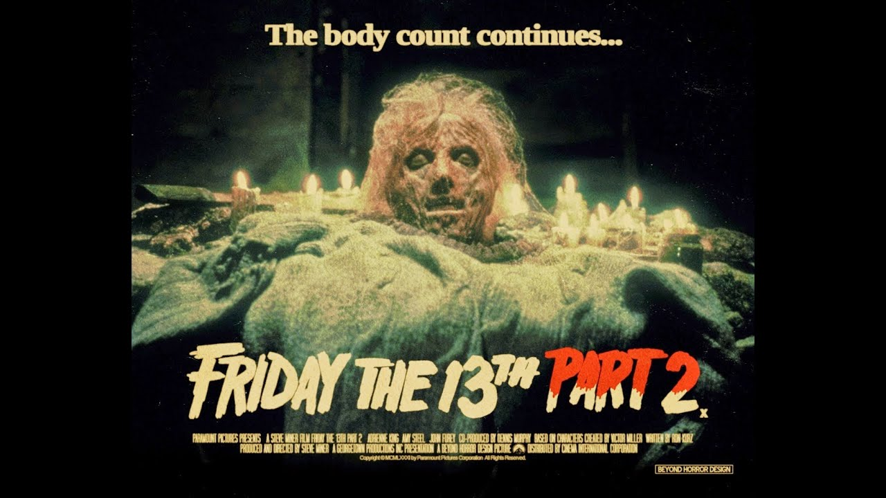 friday the 13th movie poster montage with excerpts in