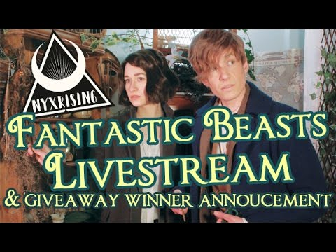 NR INDUSTRIES: FANTASTIC BEASTS LIVESTREAM and Prize WInner Announcement
