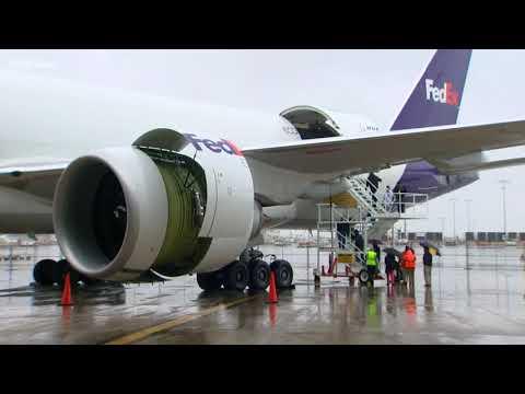 First flight on biofuel