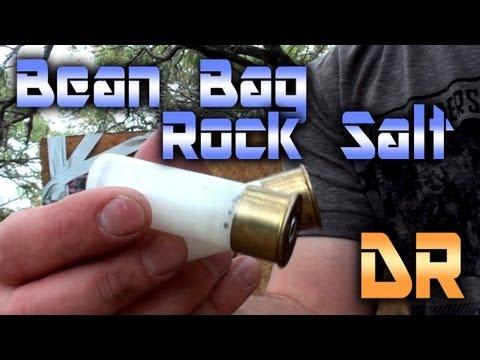 Less Than Lethal Shotgun vs Ribs, Rock Salt & Bean Bags