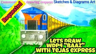 """Lets Draw WDP4 - """"BAAZ"""" With Tejas Express 