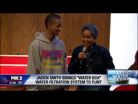 Jaden Smith back in Flint for his company's launch of the Water Box