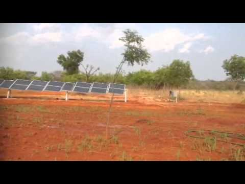 Solar powered 5HP Motor & Rain Gun