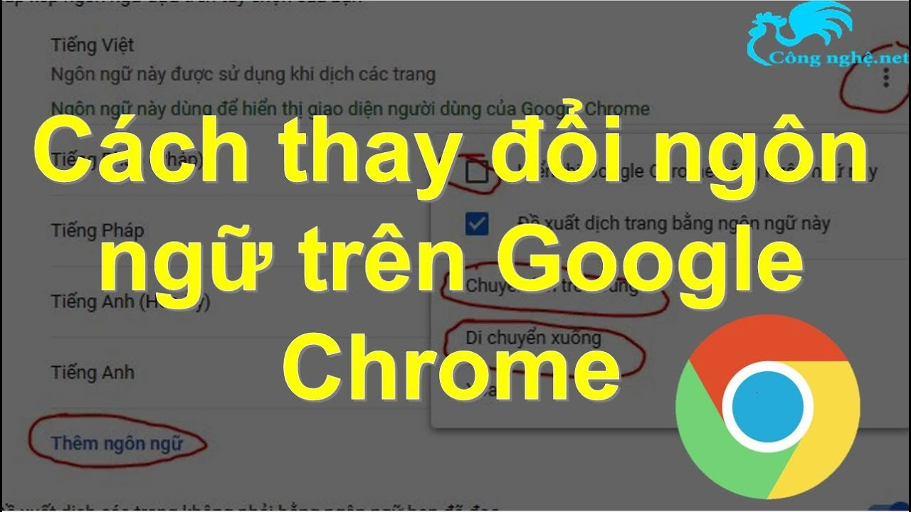 Cách thay đổi ngôn ngữ trên Google Chrome dễ dàng