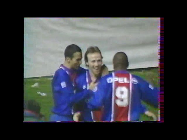 Bruno Martini lors de PSG 2- Montpellier 3 le 11/02/1996