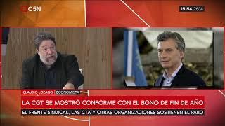 Bono por decreto: las CTA y otras organizaciones sostienen el paro