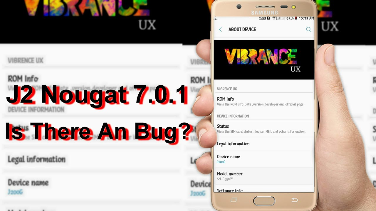 J2 Nougat [7 0 1] Is There An Bug?  VIBRANCE UX   LEGEND Rom ?